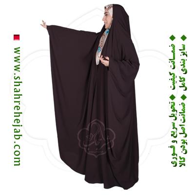 چادر جده عبایی قهوه ای شهر حجاب
