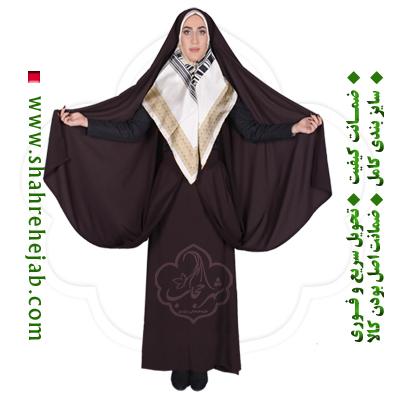 چادر کمری قجری قهوه ای شهر حجاب