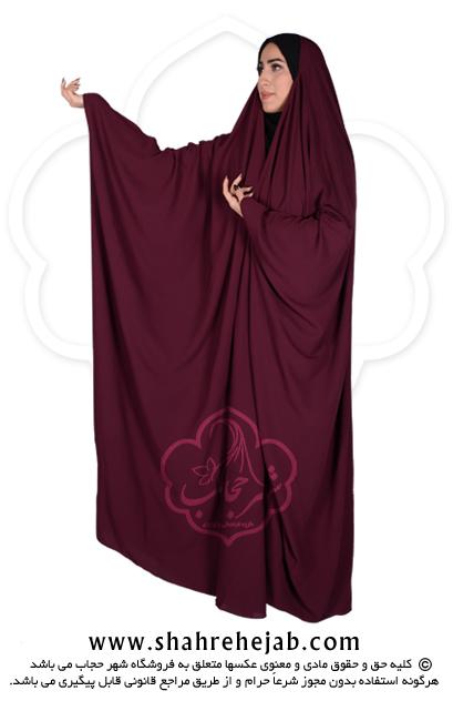 چادر جده عبایی شهر حجاب کد ۰۱ رنگ زرشکی