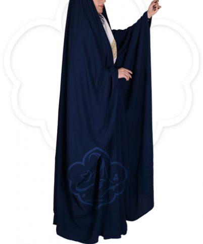 چادر جده عبایی شهر حجاب کد ۰۱ رنگ سورمه ای