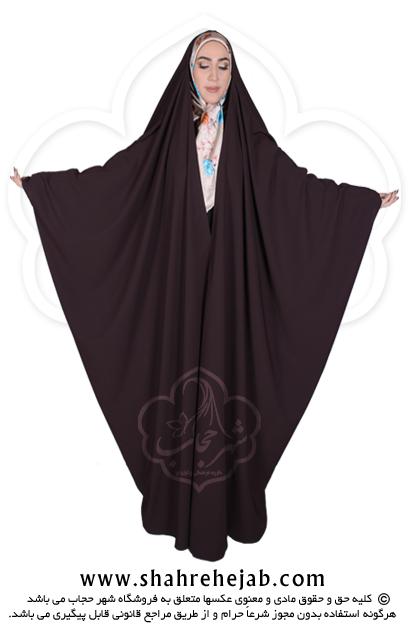 چادر جده عبایی شهر حجاب کد ۰۱ رنگ قهوه ای