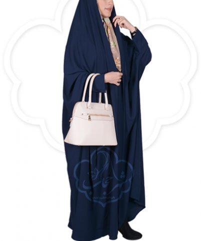 چادر دانشجویی مچدار شهر حجاب کد ۰۱ رنگ سورمه ای