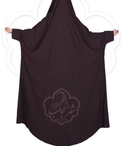 چادر دانشجویی مچدار شهر حجاب کد ۰۱ رنگ قهوه ای