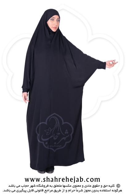 چادر حجاب جلابیب کرپ کن کن ژرژت شهر حجاب مدل ۸۰۴۷