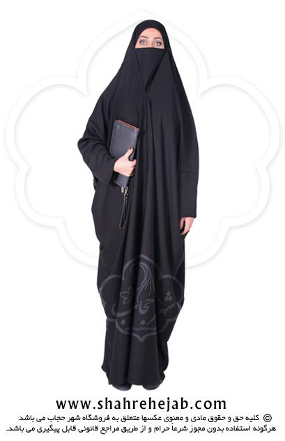 چادر لبنانی صدفی کن کن ژرژت شهر حجاب مدل ۸۰۴۲