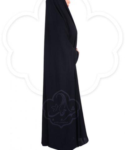 چادر دانشجویی بدون مچ کرپ کن کن ژرژت شهر حجاب مدل ۸۰۲۰