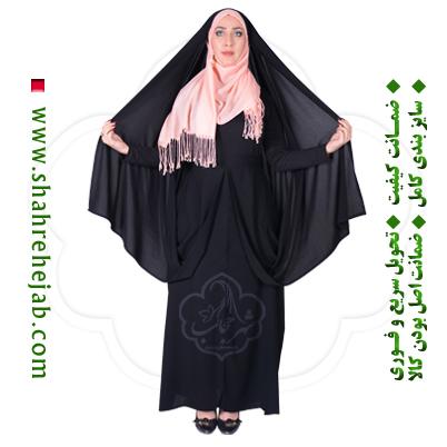 چادر کمری قجری کرپ کریستال شهر حجاب مدل ۸۰۱۲