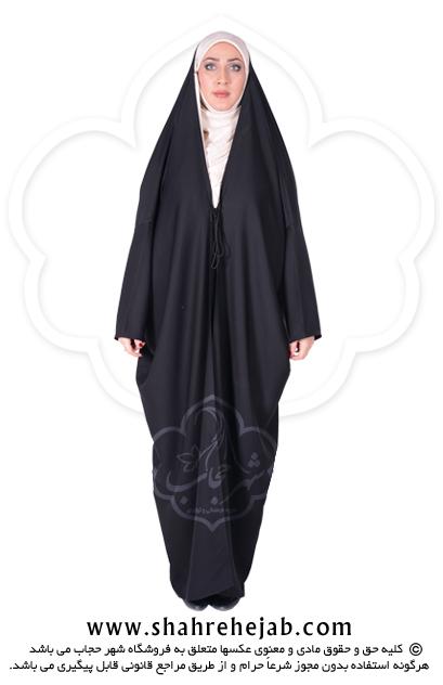 چادر اماراتی کرپ حریرالاسود شهر حجاب مدل ۸۰۲۶
