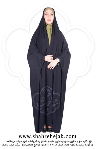 چادر دانشجویی بدون مچ کرپ کریستال شهر حجاب مدل ۸۰۱۱