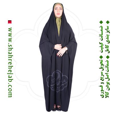 چادر دانشجویی بدون مچ کرپ کن کن ژرژت شهر حجاب مدل 8020