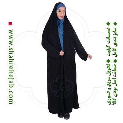 چادر ملی اداری کرپ حریرالاسود شهر حجاب مدل ۸۰۲۸