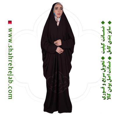 چادر لبنانی قهوه ای شهر حجاب