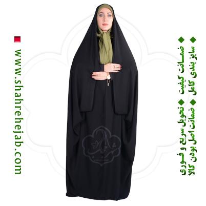 چادر کمری حسنا کرپ کریستال شهر حجاب مدل ۸۰۴۵