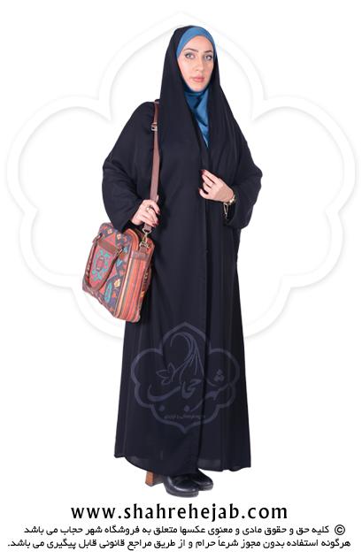 چادر ملی اداری کرپ کن کن ژرژت شهر حجاب مدل ۸۰۴۹