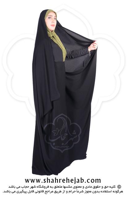 چادر کمری حسنا کرپ کن کن ژرژت شهر حجاب مدل ۸۰۴۶