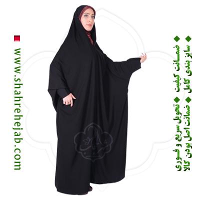 چادر اسماء کرپ حریرالاسود شهر حجاب مدل ۸۰۵۴
