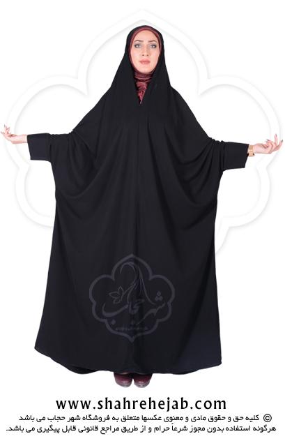 چادر اسماء کرپ کن کن ژرژت شهر حجاب مدل ۸۰۶۱