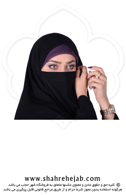 چادر بیروتی / بحرینی کرپ کن کن ژرژت شهر حجاب مدل ۸۰۴۱