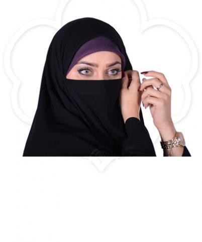 چادر بیروتی بحرینی کرپ حریرالاسود شهر حجاب مدل ۸۰۷۱