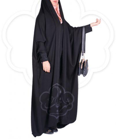 چادر جلوه نگین دار کن کن ژرژت شهر حجاب مدل ۸۰۸۱