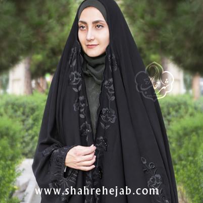 چادر عربی گلدوزی شهر حجاب