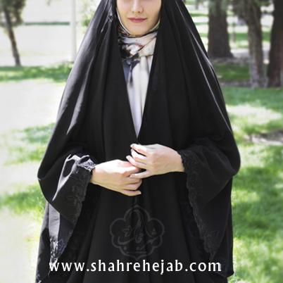 چادر عربی گلدوزی مدل آستین کیمونو